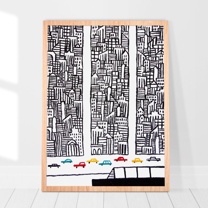 abstract drawn cityscapes